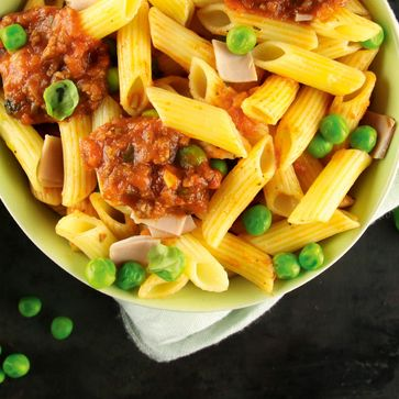 Penne mit Kids Bolognese